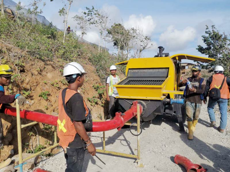 60 diesel concrete pump in Lombok