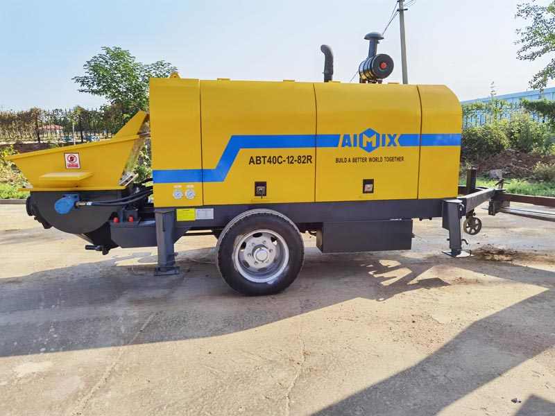ABT40C Small concrete pump to the Philippines