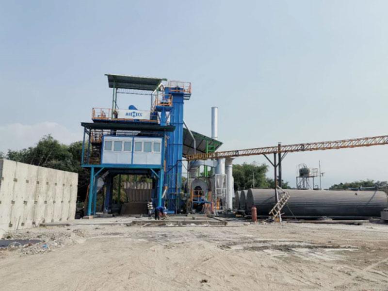 AIMIX 100t asphalt mixing plant in Probolingo Indonesia