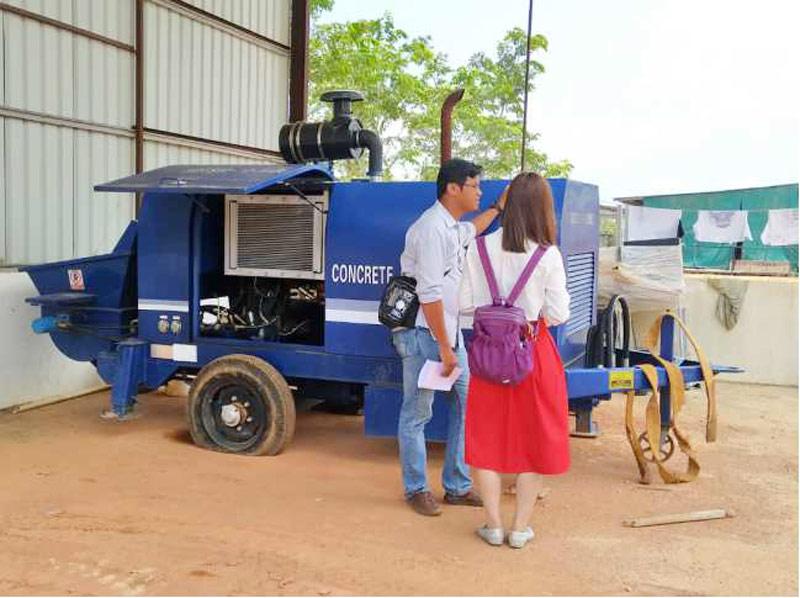 AIMIX 50cbm diesel concrete pump in Batam Indonesia