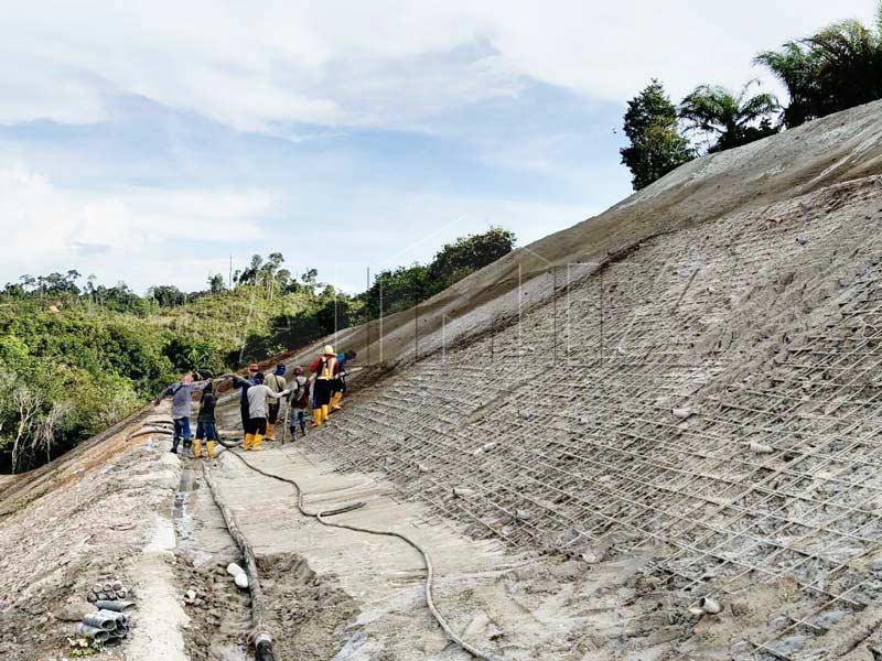 AIMIX cement mortar pump construction site