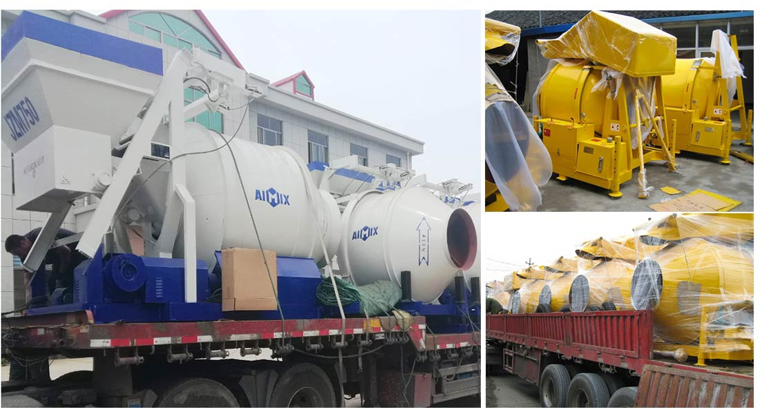 AIMIX small concrete mixer exported
