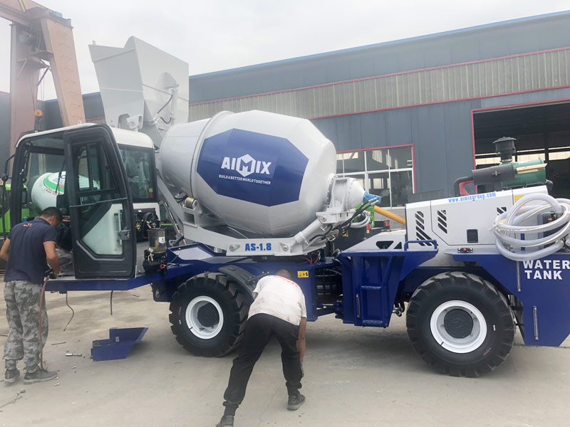 AS1.8 self load concrete mixer to the Philippines