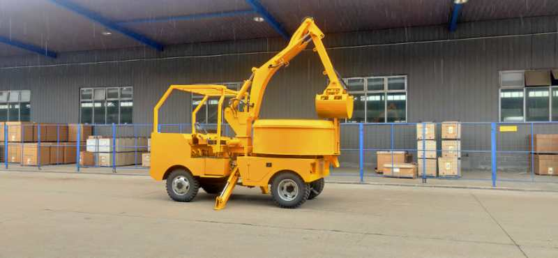 Grab Bucket Self Mixing Concrete Truck