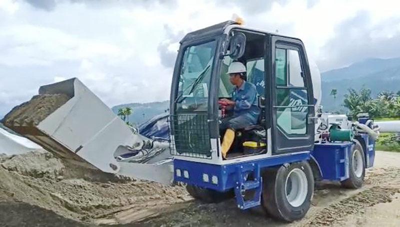 self loading mixer in Pekanbaru Indoesia
