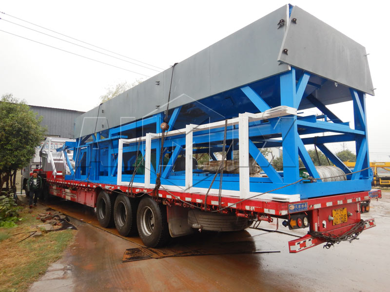 stabilized soil mixing plant loading site