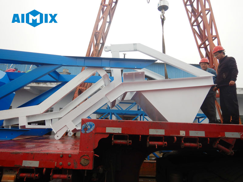 stabilized soil mixing plant loading