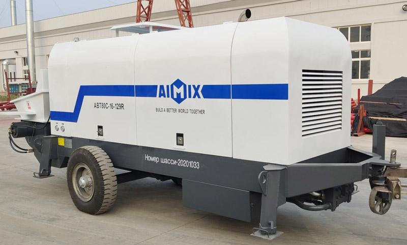 ABT80C diesel concrete pump Russia