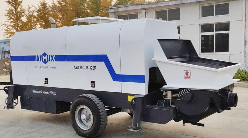 ABT80C diesel concrete pump sent to Russia