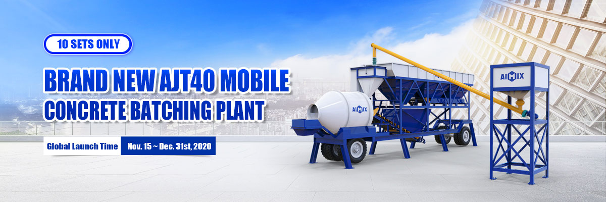 AIMIX mobile batching plant year end big sale