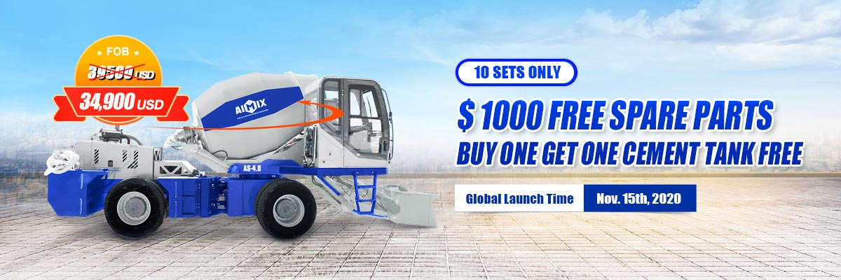 AIMIX self loading concrete mixer year end big sale