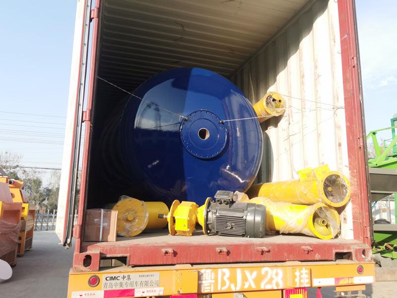 AIMIX 8m3 concrete mixer drum loaded