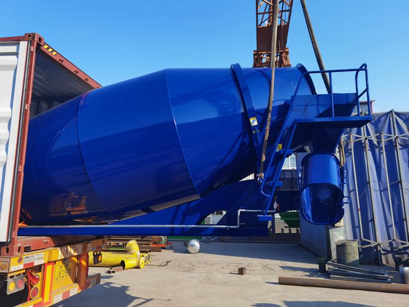 AIMIX 8m3 concrete mixer drum to Malaysia