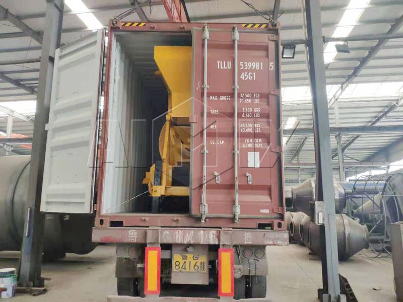 AIMIX concrete mixer loaded