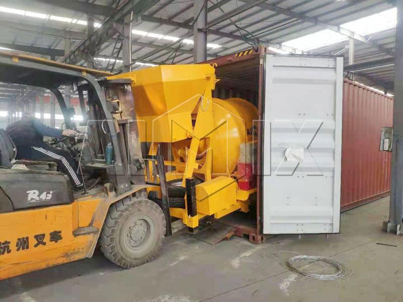 JZM500 concrete mixer sent to Jakarta