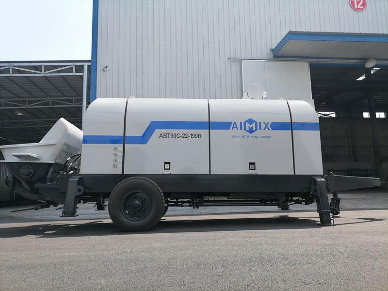 ABT90C diesel concrete pump exported