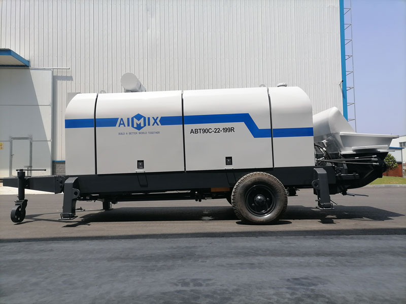ABT90C diesel engine concrete pump