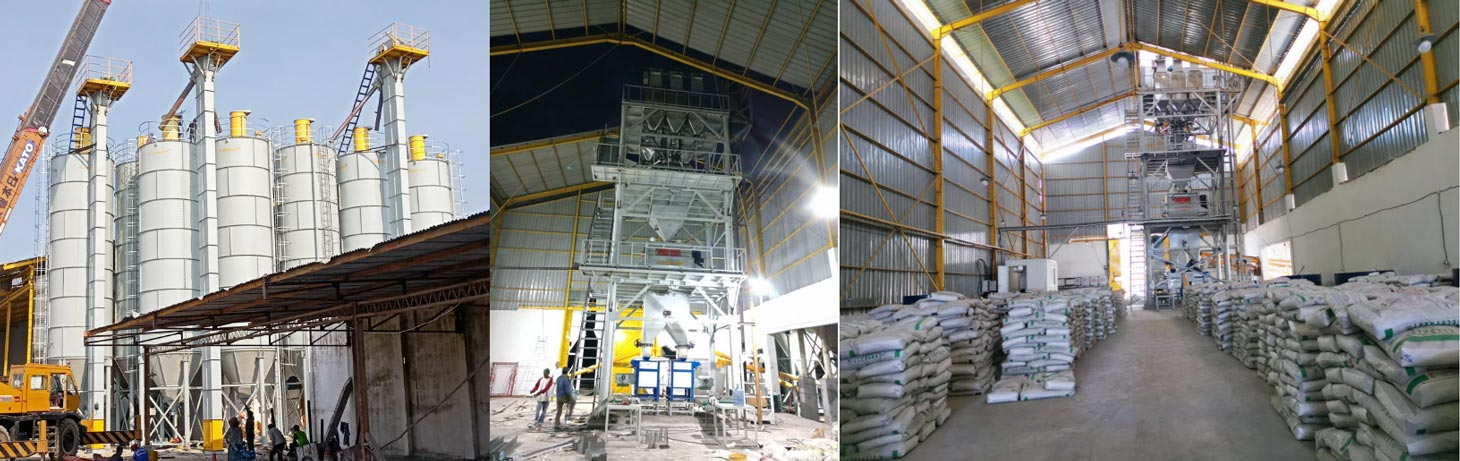 30ton dry mortar plant in Indonesia