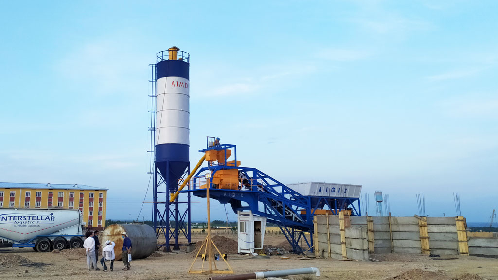 35m3 mobile batching plant