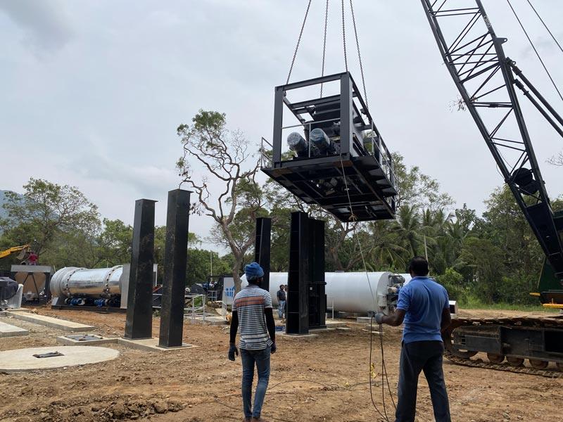 AIMIX asphalt plant installation