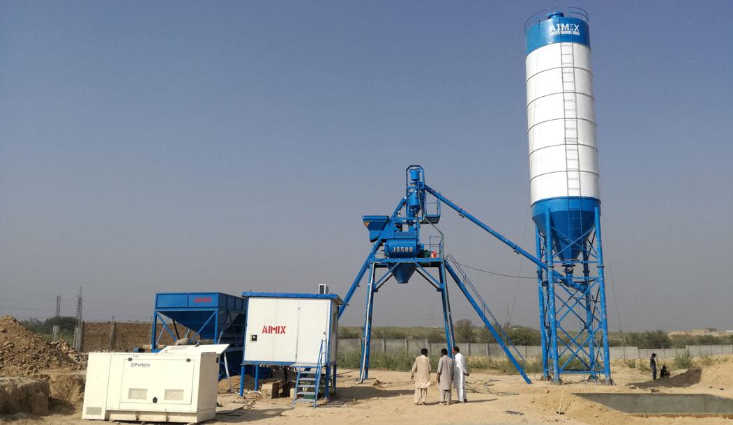 AJ25 mini concrete batching plant