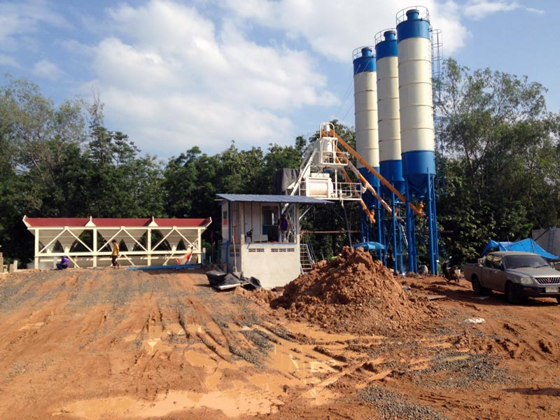 AJ50 batching plant in Tailand