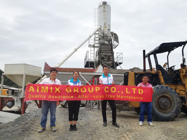 AJ50 batching plant in the Philippines