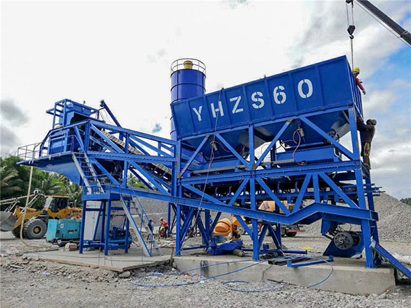AJY60 mobile batching plant to Philippines