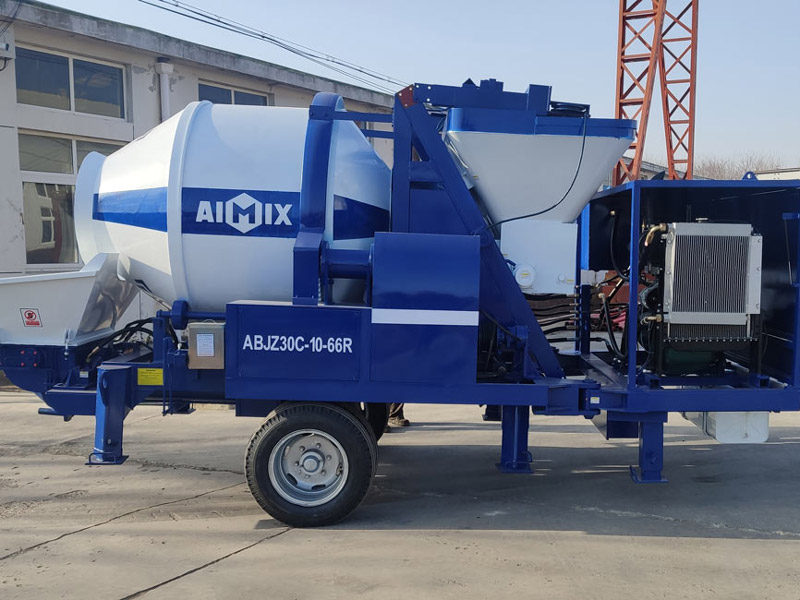 ABJZ30C concrete mixer pump to Dodobas
