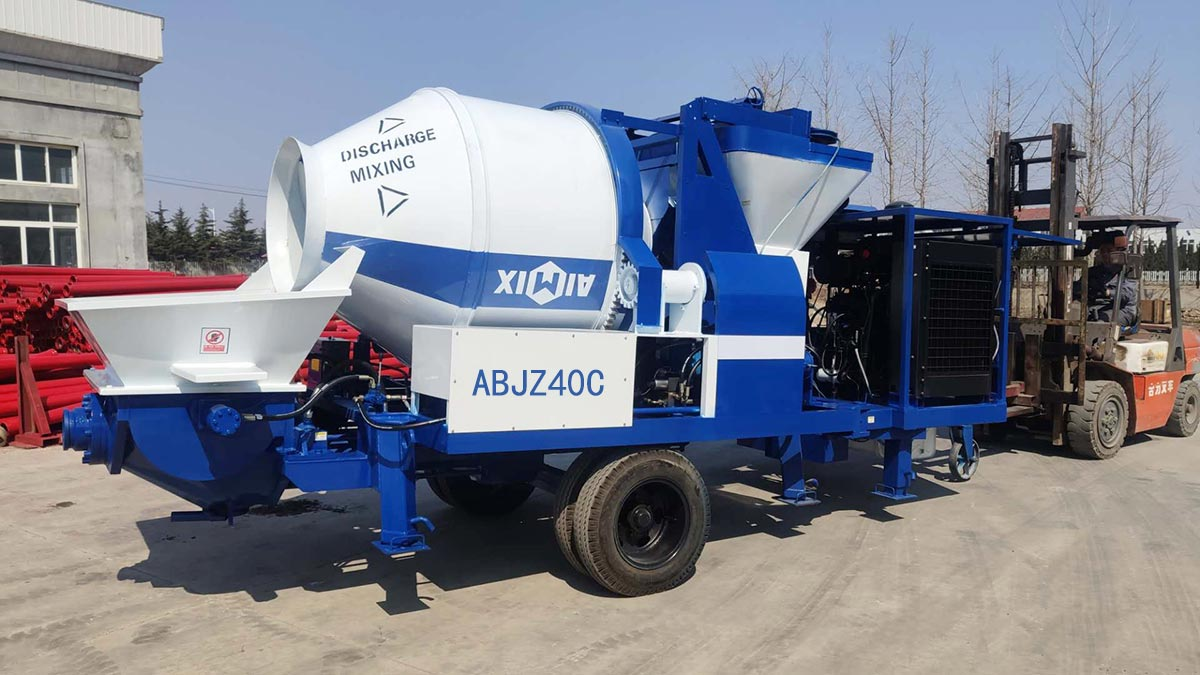 ABJZ40C concrete mixer pump to Indonesia