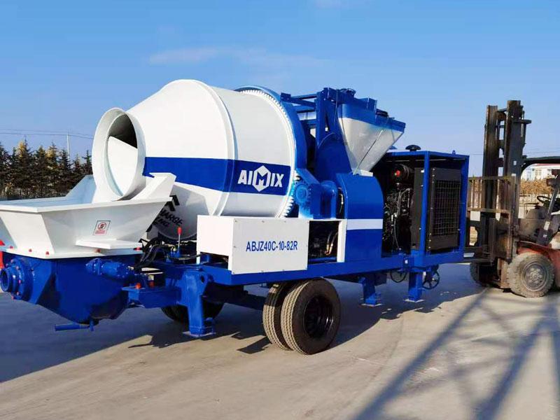 ABJZ40C diesel concrete mixer pump exported