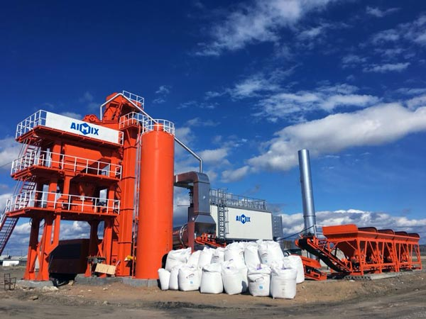 AIMIX asphalt mixing plant in Russia