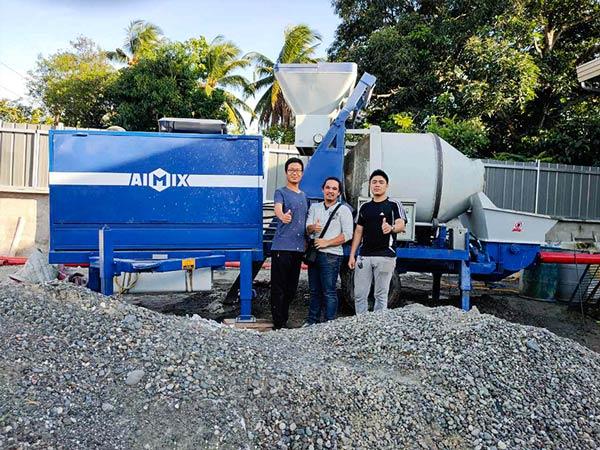 AIMIX concrete pump service team