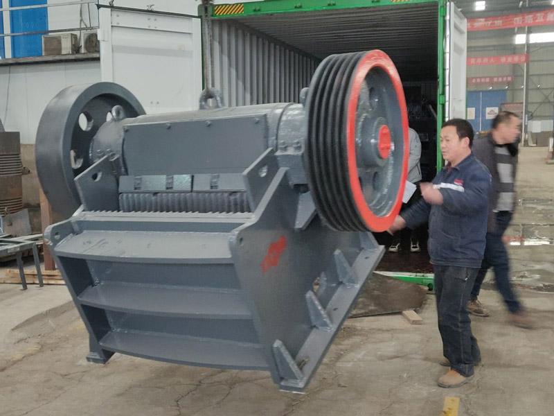AIMIX jaw crusher loading