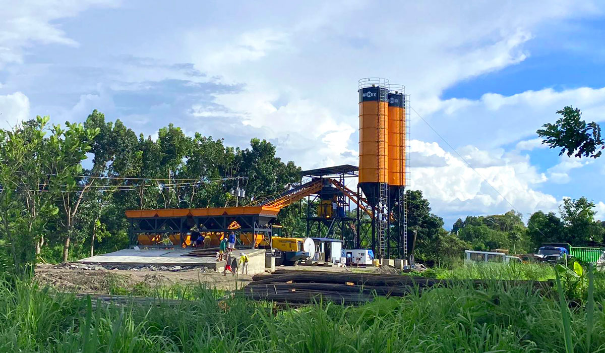 AJ-60 small batching plant in Indonesia