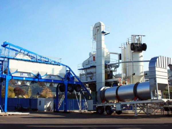 ALYQ100 mobile asphalt batching plant
