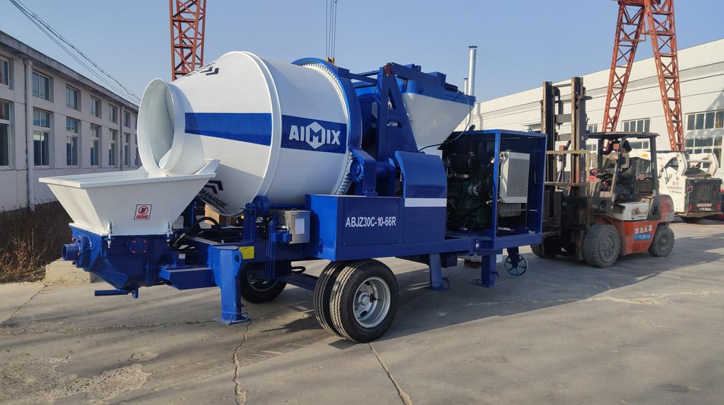 AIMIX mixer pump sent to Barbados