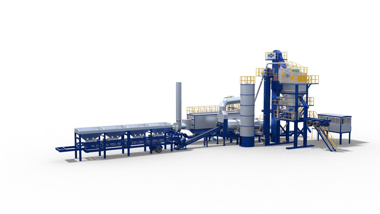 mobile forced asphalt mixing plant