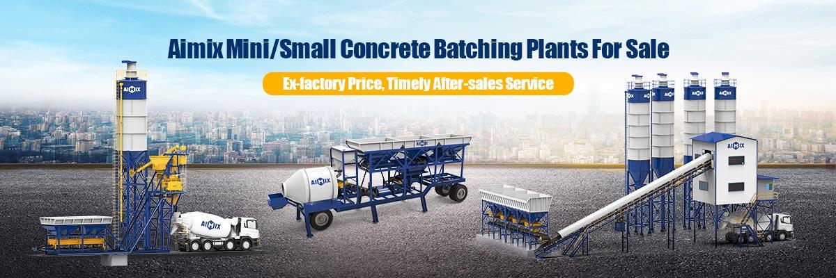 small concrete batching plant