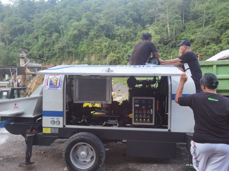 ABT40C concrete pump in Indonesia