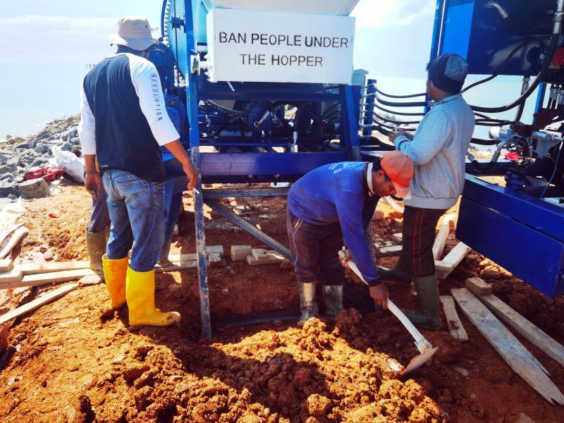 concrete mixer pump in Indonesia