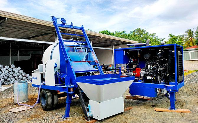 ABJZ40C Concrete Mixer Pump In Indonesia