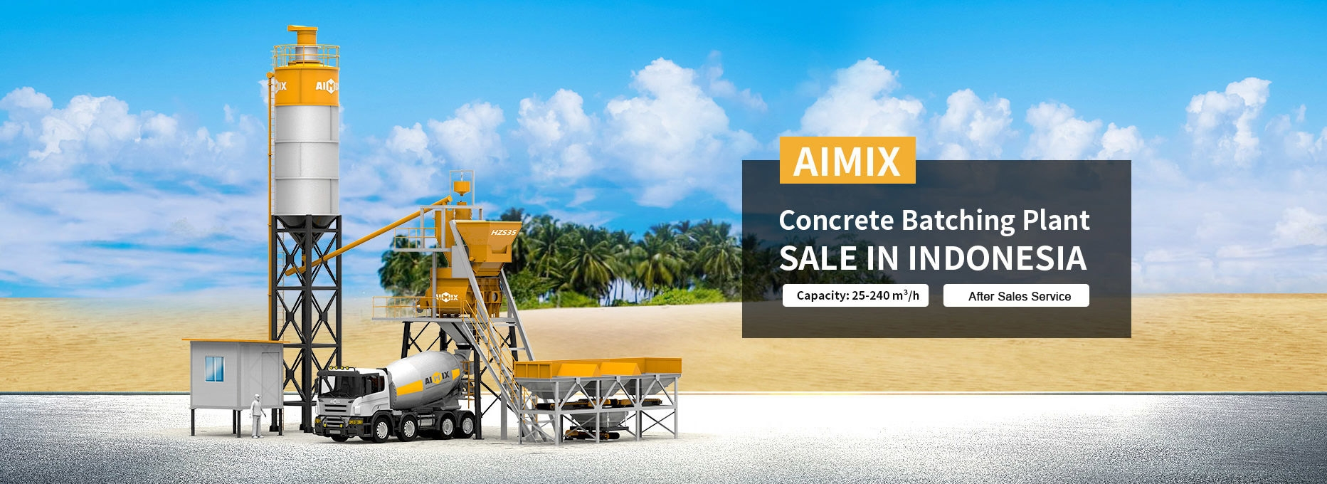 AIMIX batching plant in Indonesia