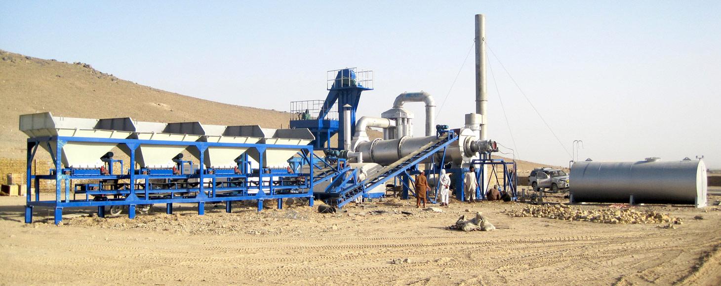 continuous drum asphalt plant