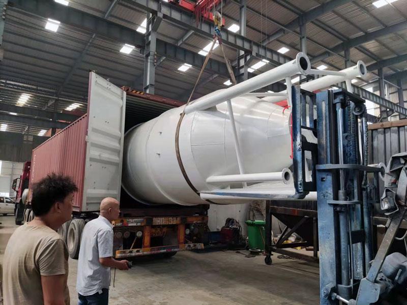AIMIX 30 ton cement silo loading